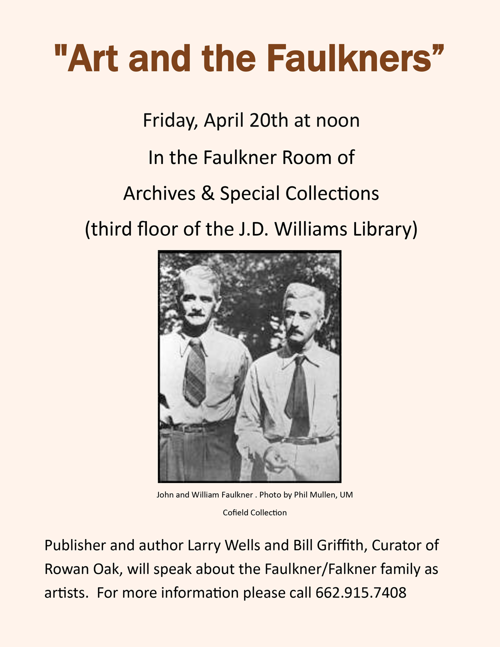 Faulkner Art in J.D. Williams Library