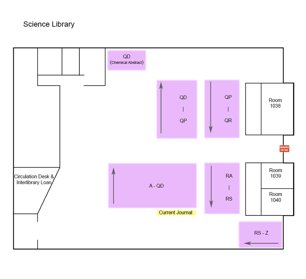Science Library Floor Map
