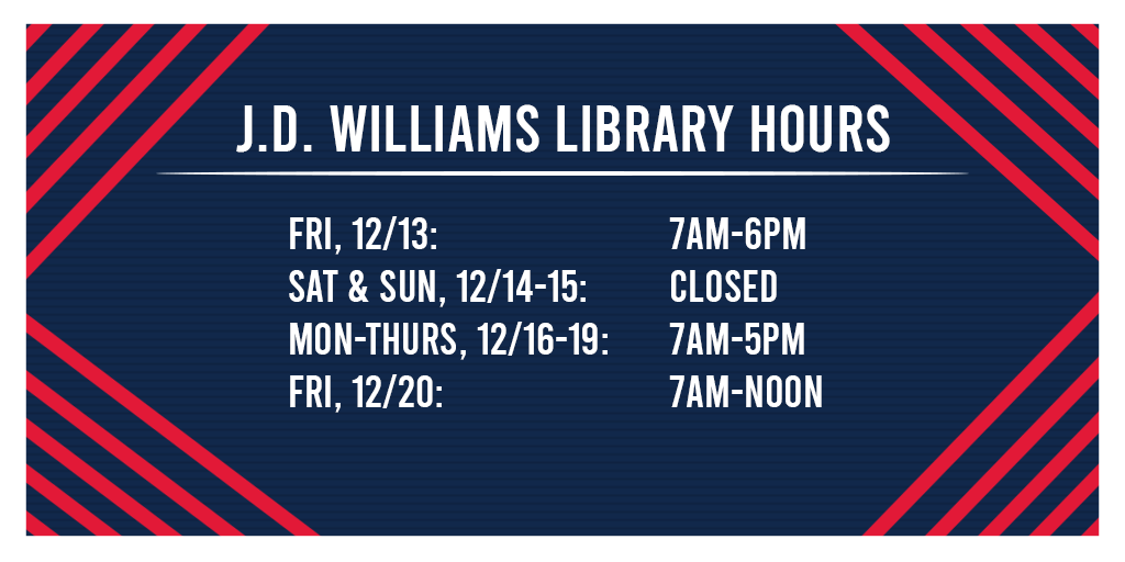 Holiday Week Hours