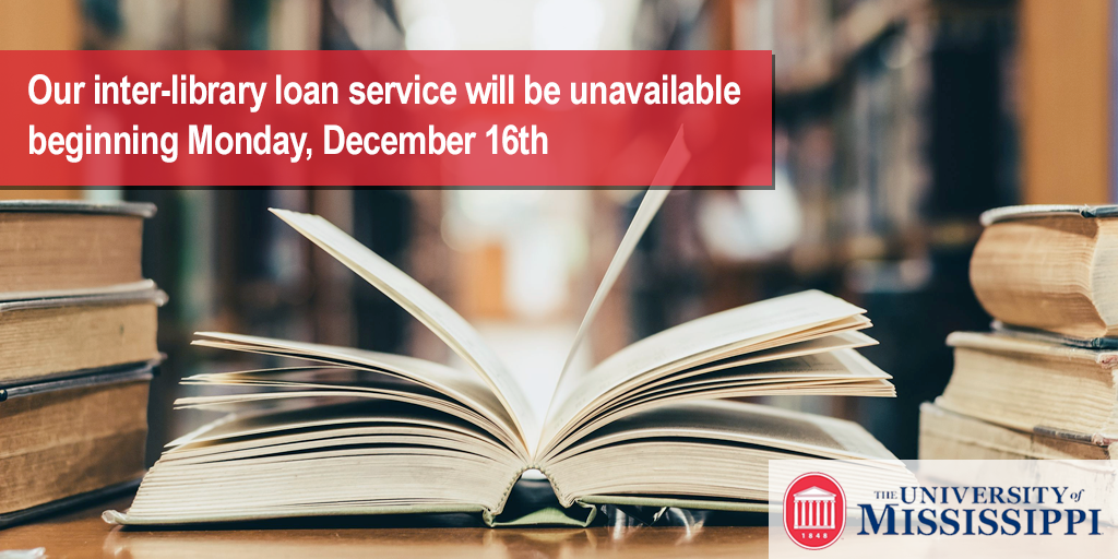 Inter-library loan down for maintenance