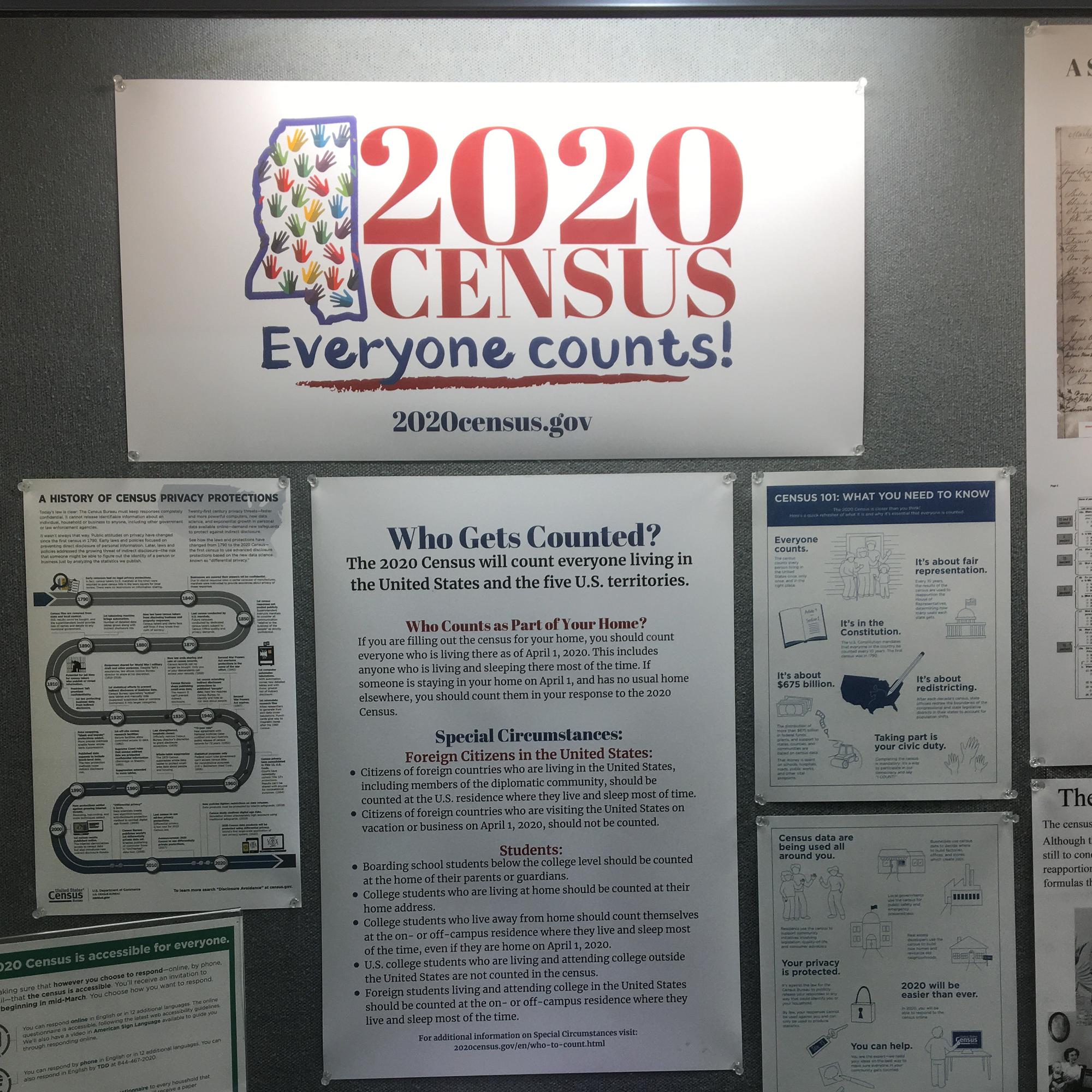 Census 2020 display