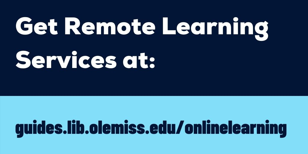 Remote learning services available